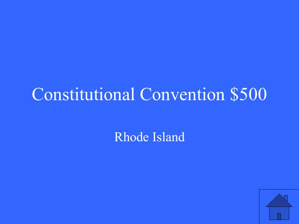 Constitutional Convention $500 Rhode Island