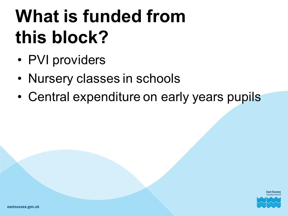 What is funded from this block.