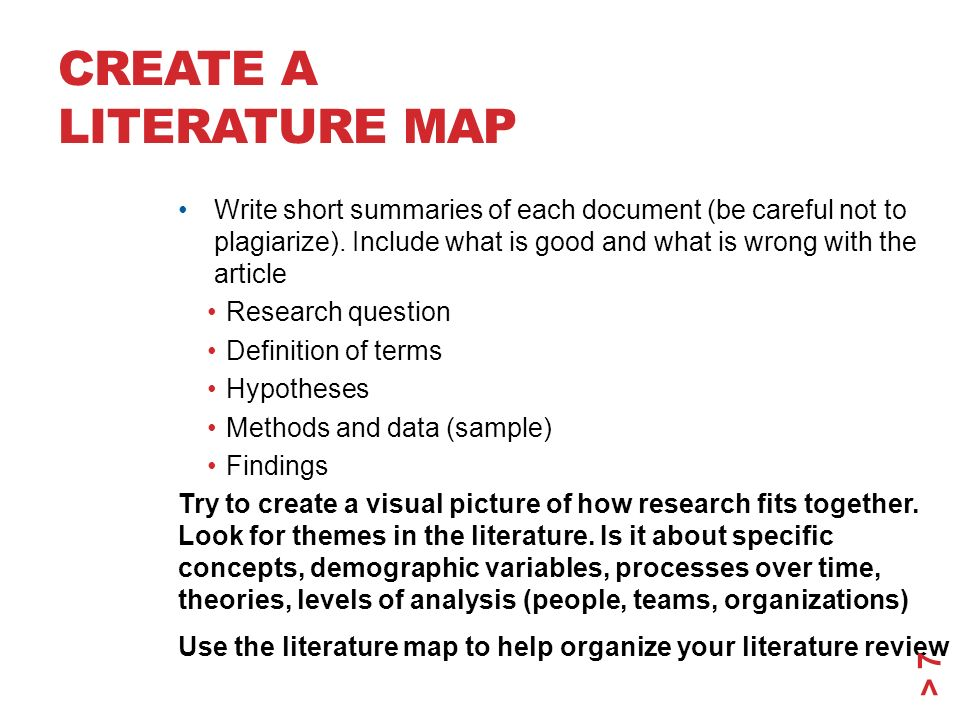Short literature review example