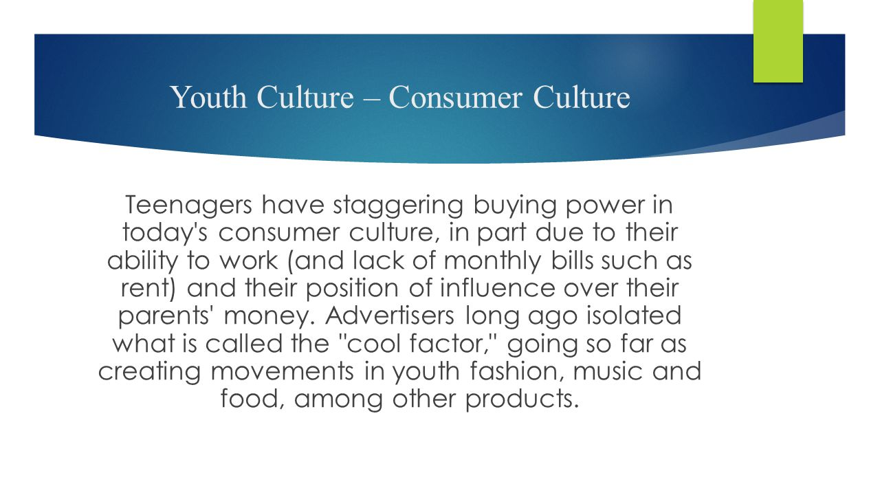 youth culture today