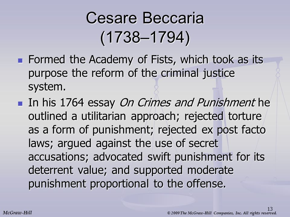 an essay on crimes and punishment by cesare beccaria