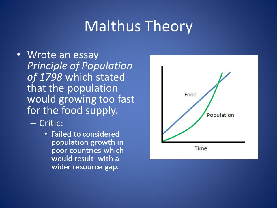 the problem of overpopulation in thomas malthus an essay on the principle of population Malthus's classic prescription for the problem of overpopulation  thomas robert malthus  that it be published and so an essay on the principle of population.