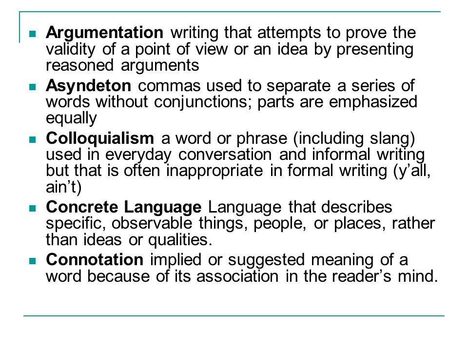 slang term definition essay