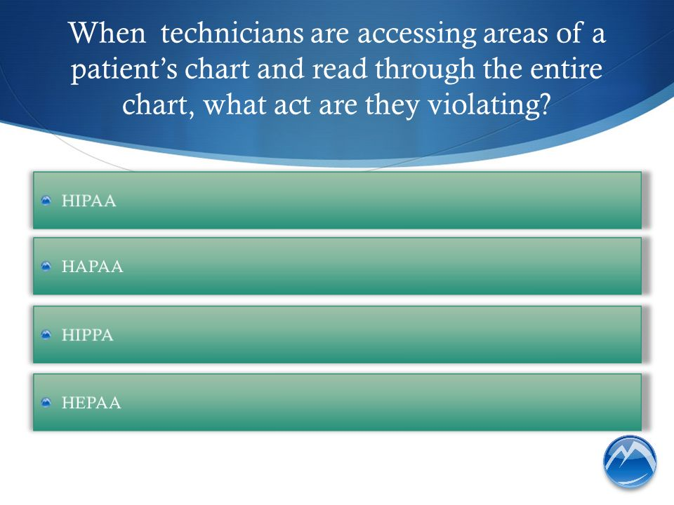 When technicians are accessing areas of a patient's chart and read through the entire chart, what act are they violating