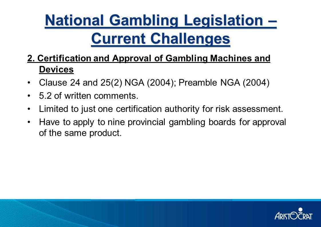 National gambling certification california casino pachanga temecula