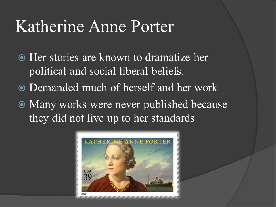 a comparison of the short stories the jilting of granny weatherall by katherine anne porter and eudo