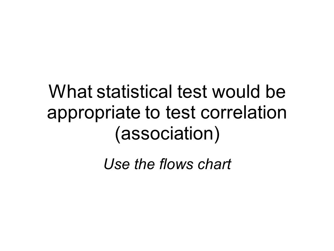 Statistical analysis a quick overview the scientific method 13 what statistical test would be appropriate to test correlation association use the flows chart geenschuldenfo Choice Image