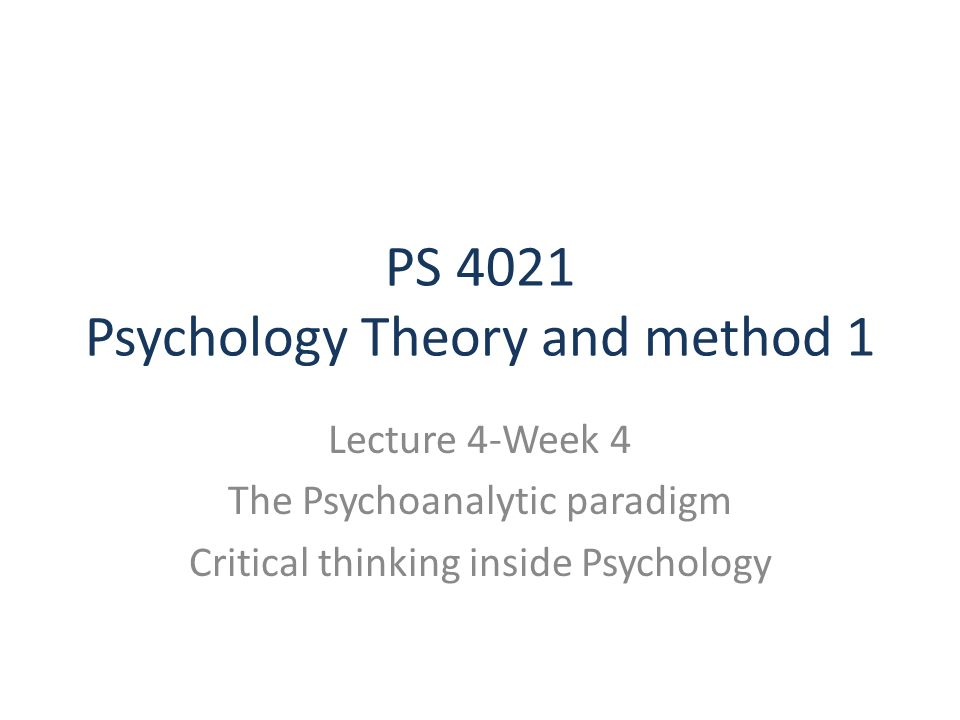 PowerPoint Presentation     Basic Guidelines to Critical Thinking in  Psychology Wikipedia