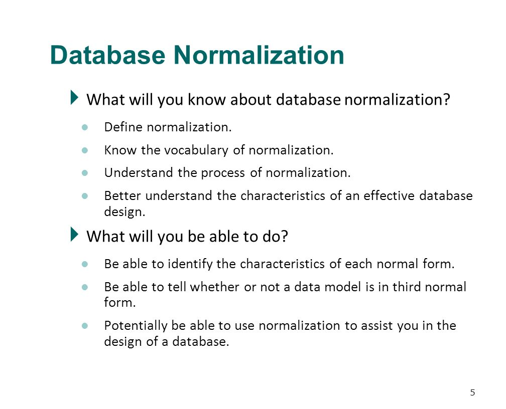 normalization process Find out what normalization is and how your database can benefit from it (or suffer from it) learn the advantages, disadvantages, and.