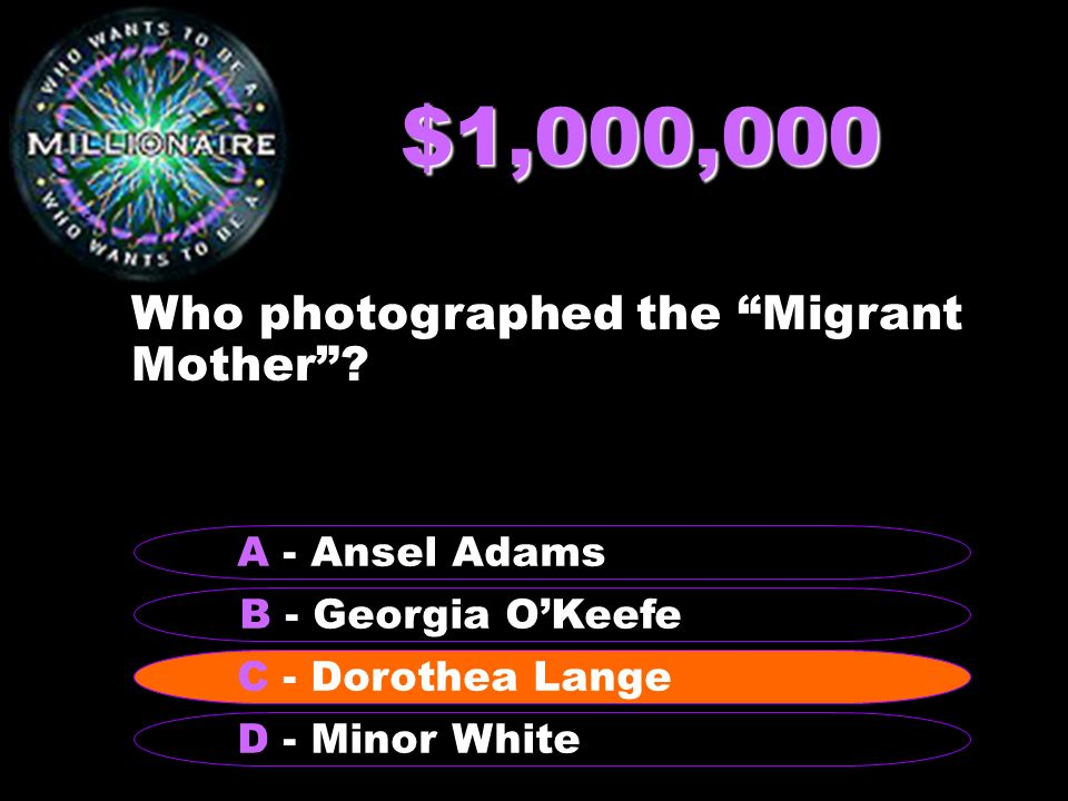 $1,000,000 Who photographed the Migrant Mother .