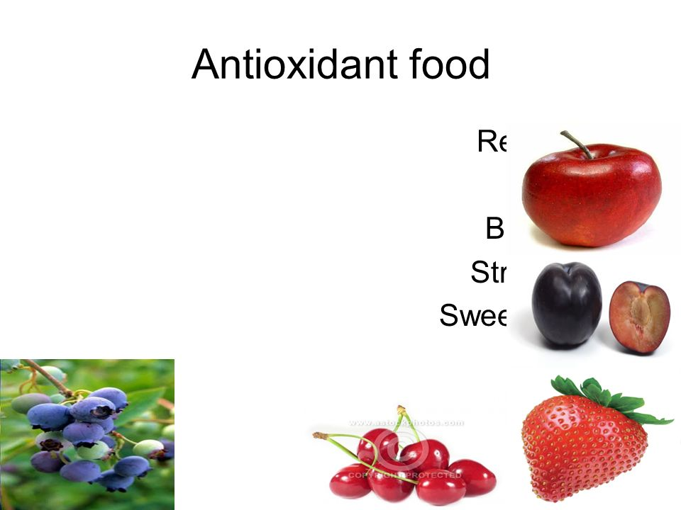 Antioxidant food Red apple Plum Blueberry Strawberry Sweet cherry