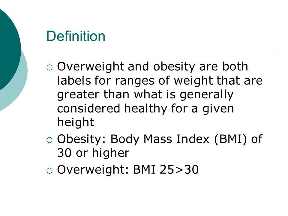 5 Definition  Overweight ...