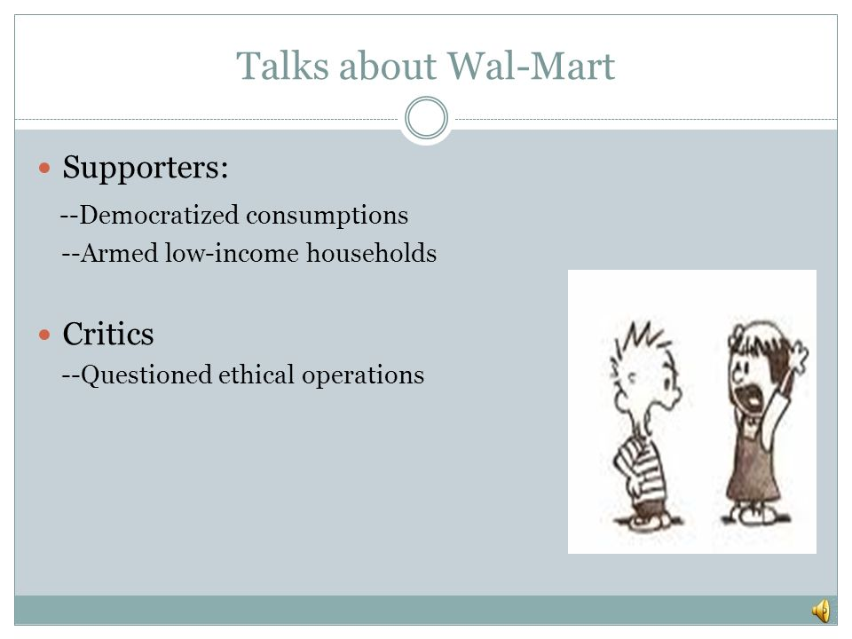 ethical case study wal mart vs