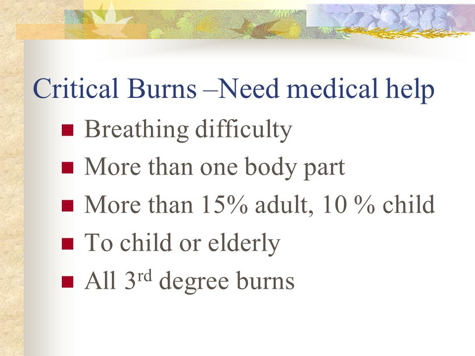 Burns are injuries caused by Heat Chemicals Electricity Radiation Fire