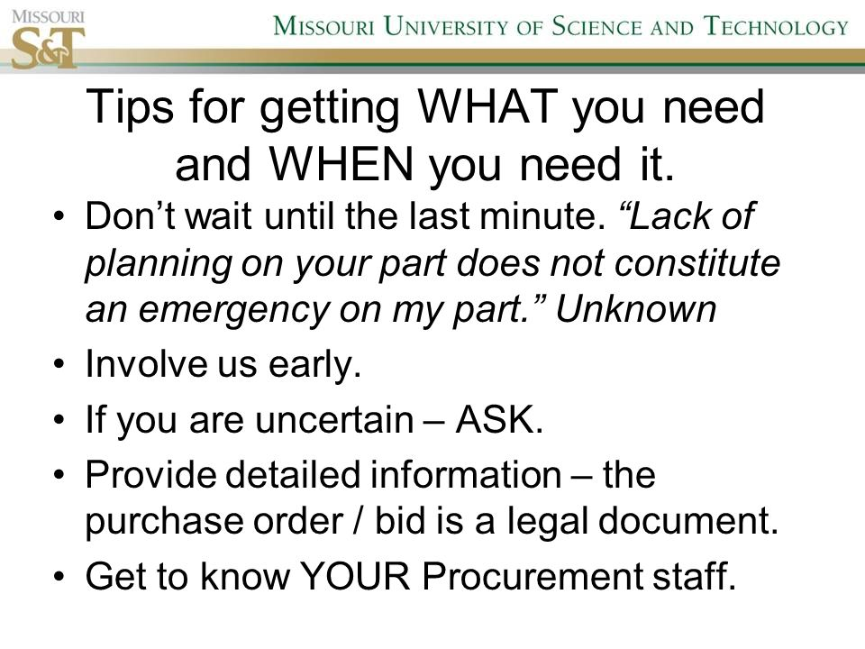 Missouri ST Campus Procurement Services G5C Campus Support – Is a Purchase Order a Legal Document
