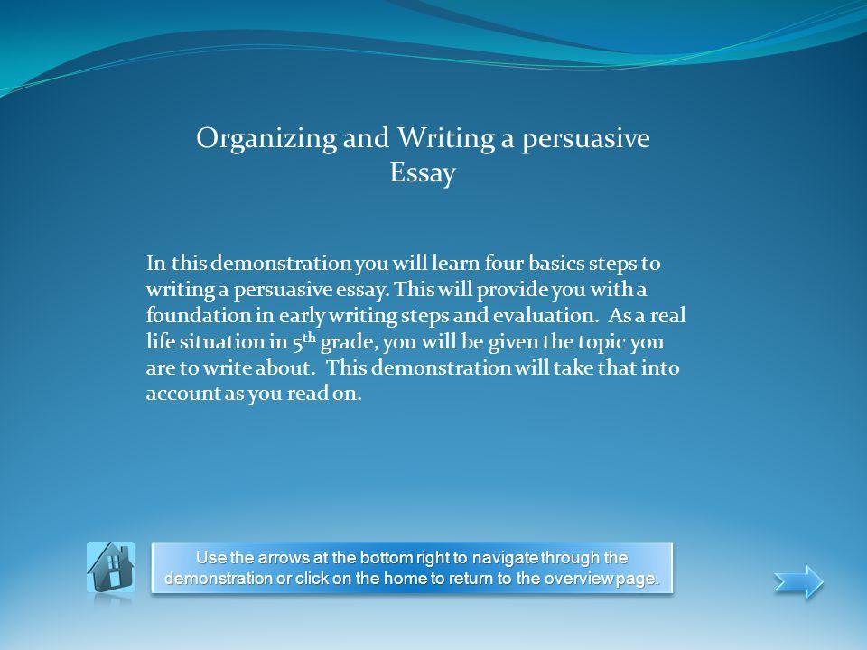 easy steps writing persuasive essay