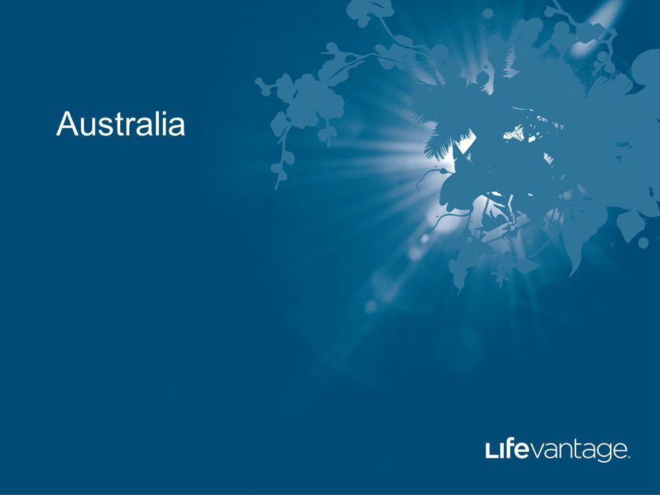 Australia. LifeVantage Corporation True Products. - ppt download