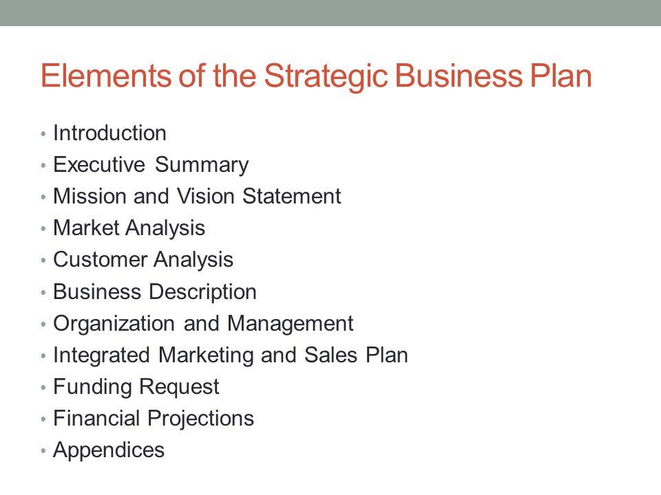 Customer analysis business plan