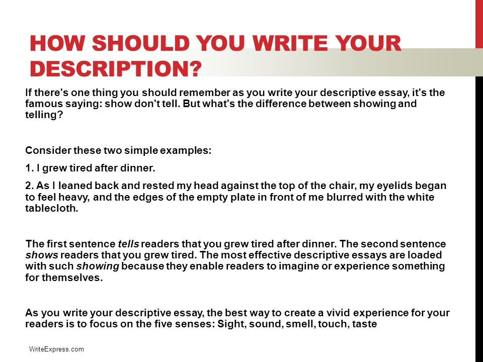 descriptive writing english luis cordova what is descriptive  4 how should you write