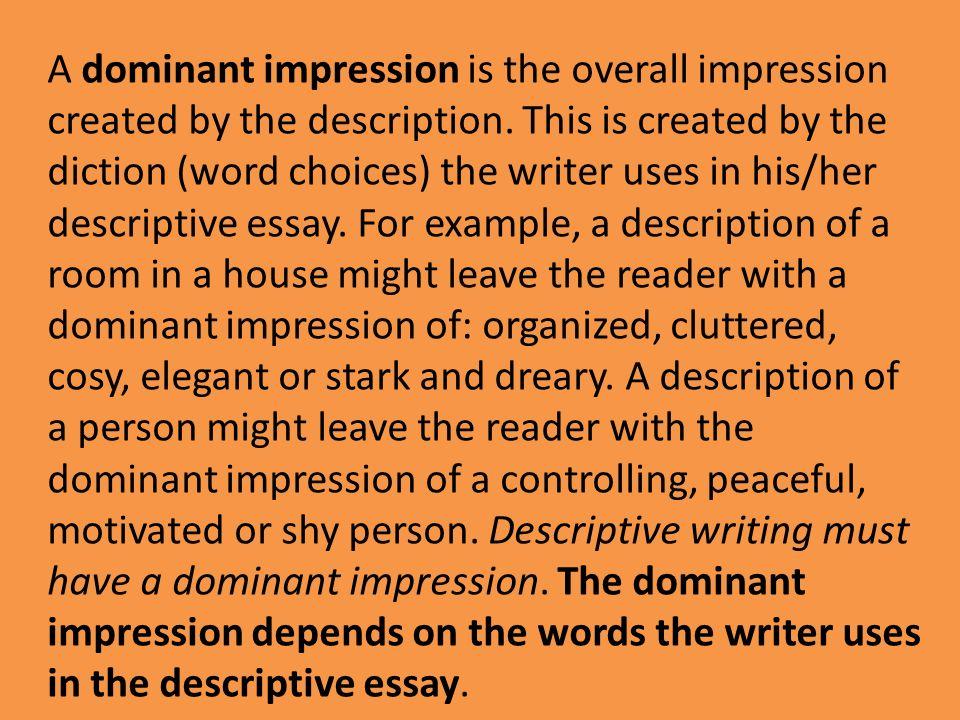Model Descriptive Essay