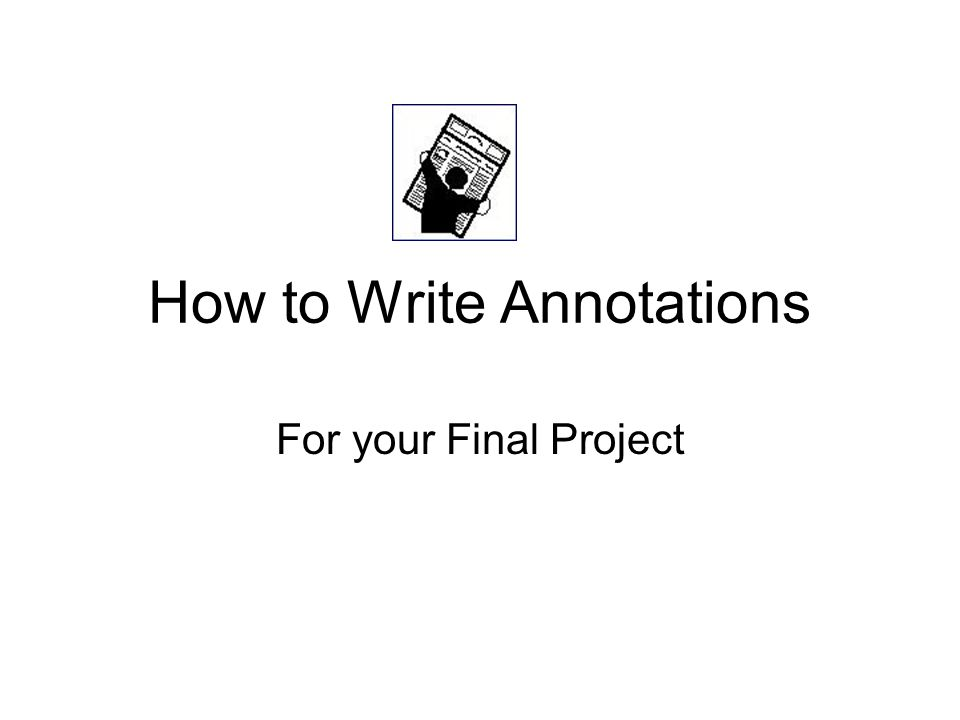 Abstract vs Annotated Bibliography