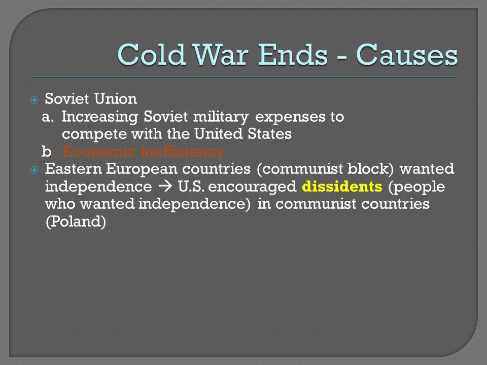 Increasing Soviet Military Expenses To Compete With The United States B