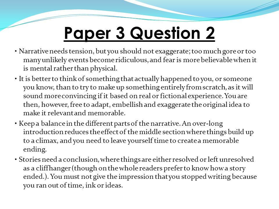 questions for descriptive essay