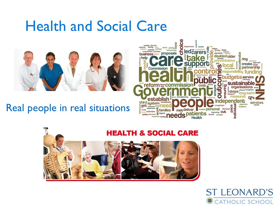Health and Social Care Real people in real situations