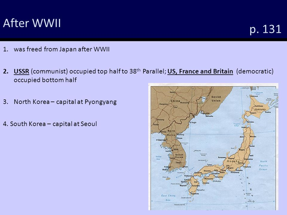 WHII The Cold War Objectives P WHII The Student Will - Bottom half of us map