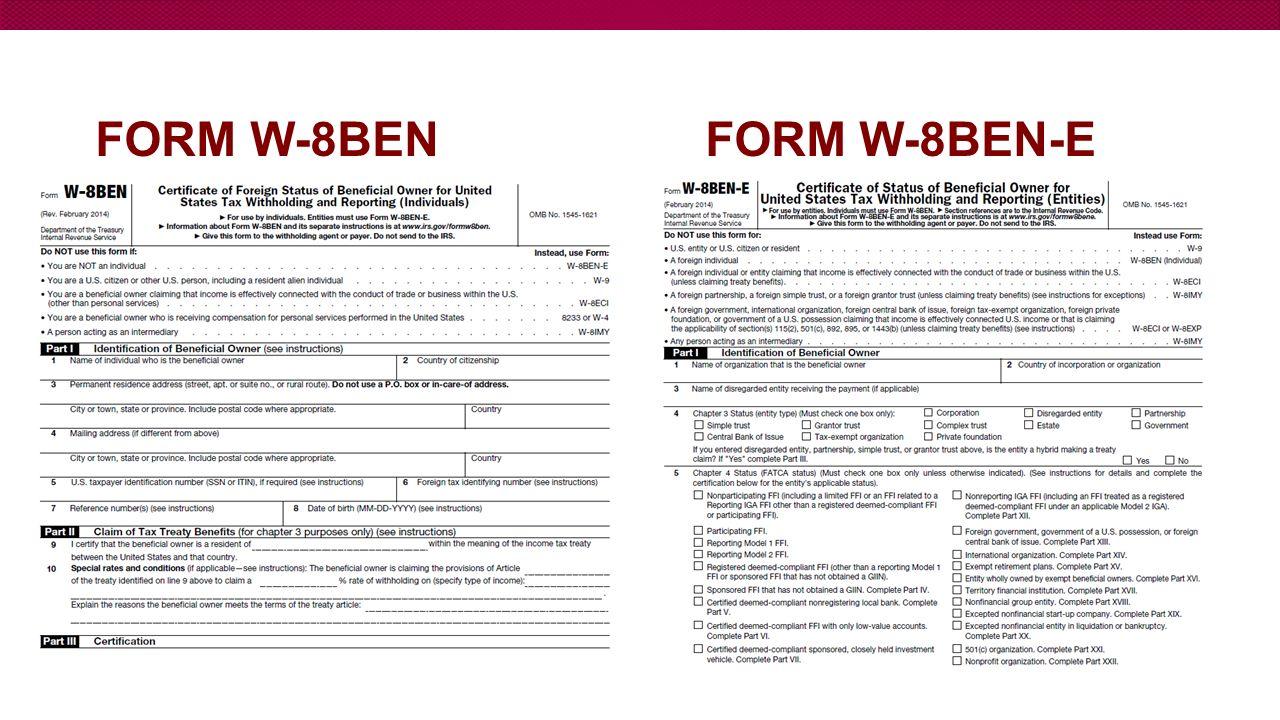 Presenter maria araque senior tax analyst general accounting 9 form w 8ben form w 8ben e falaconquin