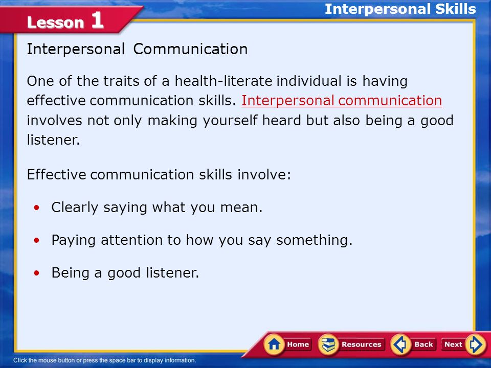 Lesson 1 COMMUNICATION SKILLS ACTIVITY