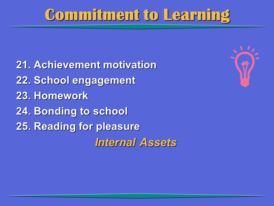 Commitment to Learning 21. Achievement motivation 22.