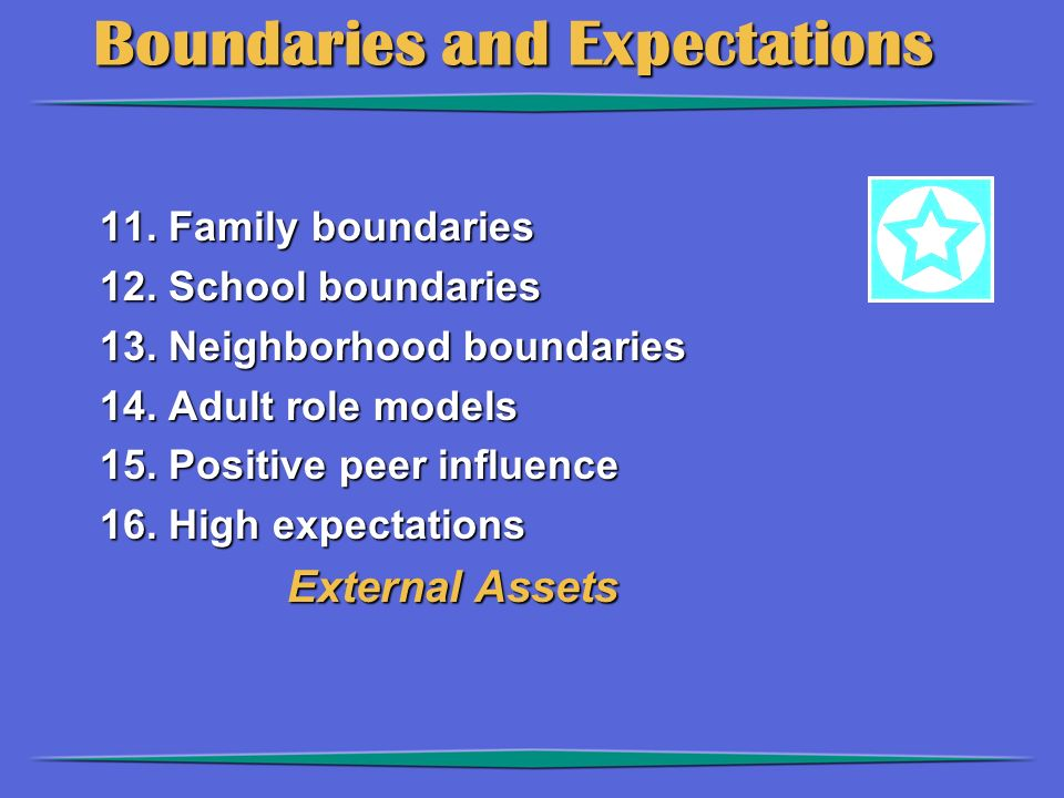 Boundaries and Expectations Boundaries and Expectations 11.