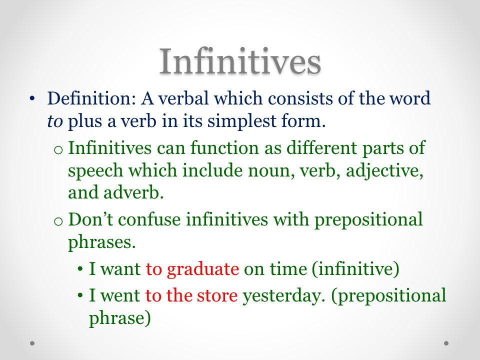 Verbals English 11. Verbals Definition: A word that is formed from ...