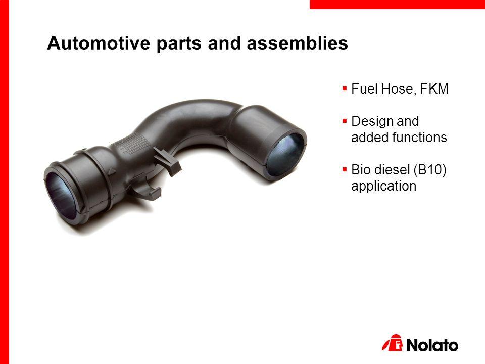 Fuel Hose, FKM  Design and added functions  Bio diesel (B10 ...
