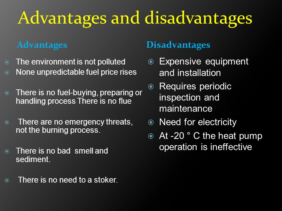 advantages and disadvantages of fuels