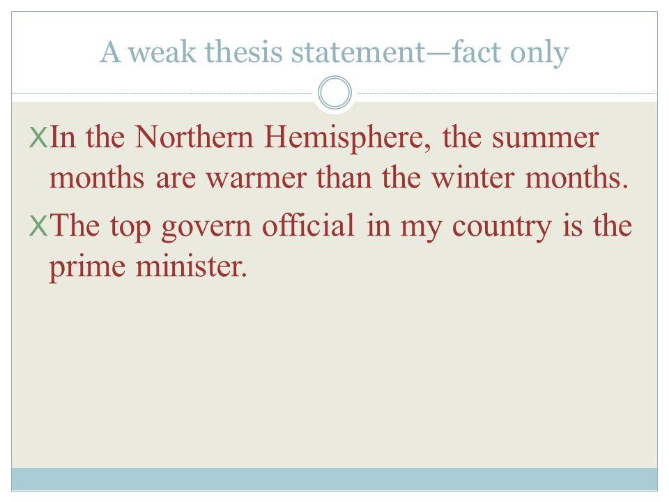 weak thesis statement