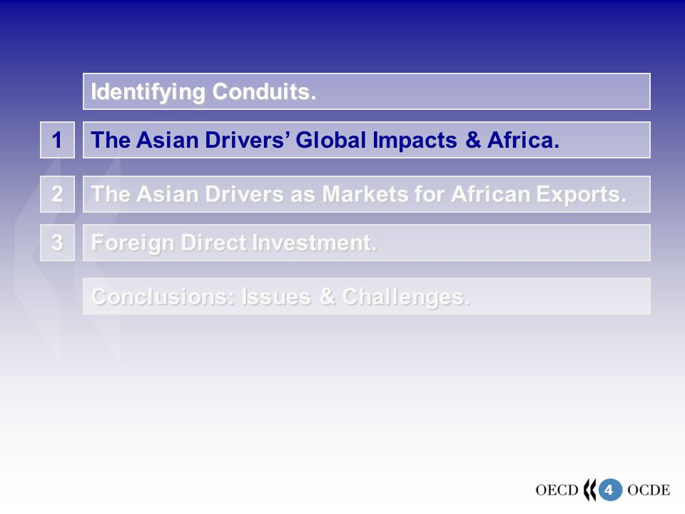 4 1 The Asian Drivers' Global Impacts & Africa. The Asian Drivers as Markets for African Exports.