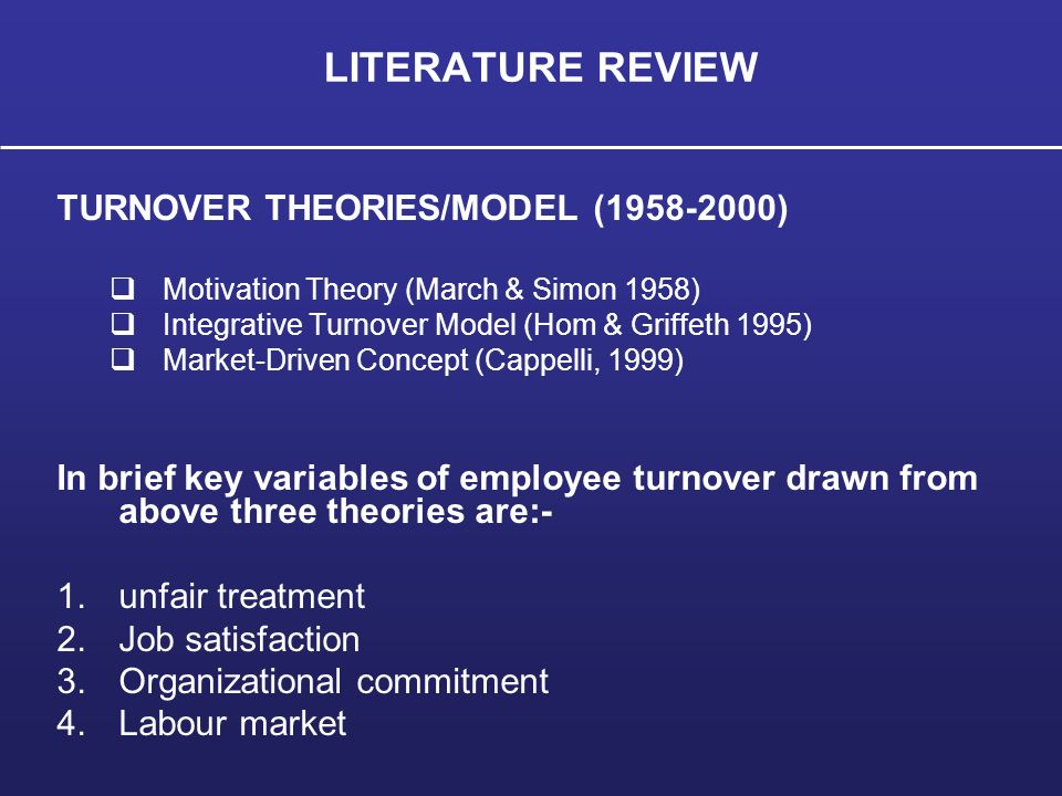organizatonal theory literature review