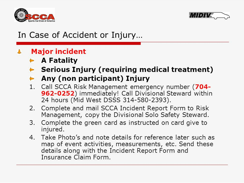 Mid West Solo Safety Steward Training. SCCA Solo Safety Steward ...