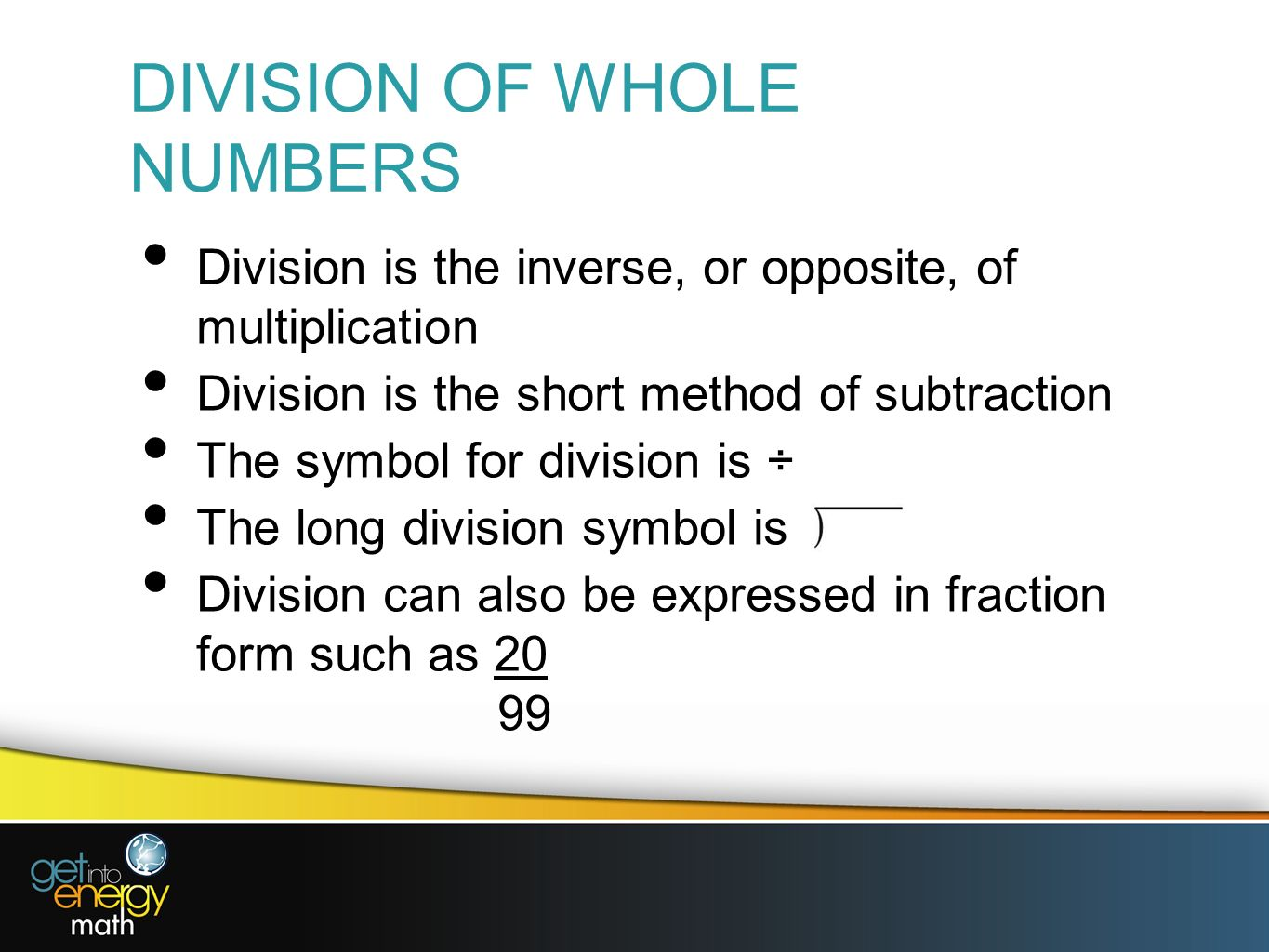 Presentation 1 whole numbers place value the value of any digit 17 division of whole numbers biocorpaavc Gallery