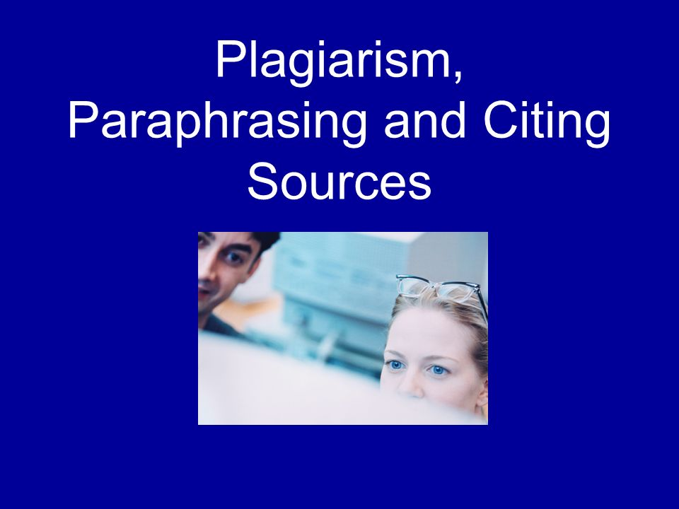 Paraphrasing information sources and formatting citations?