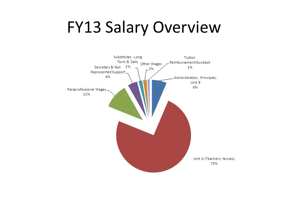 FY13 Salary Overview