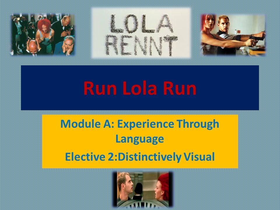 Distinctively visual essay run lola run