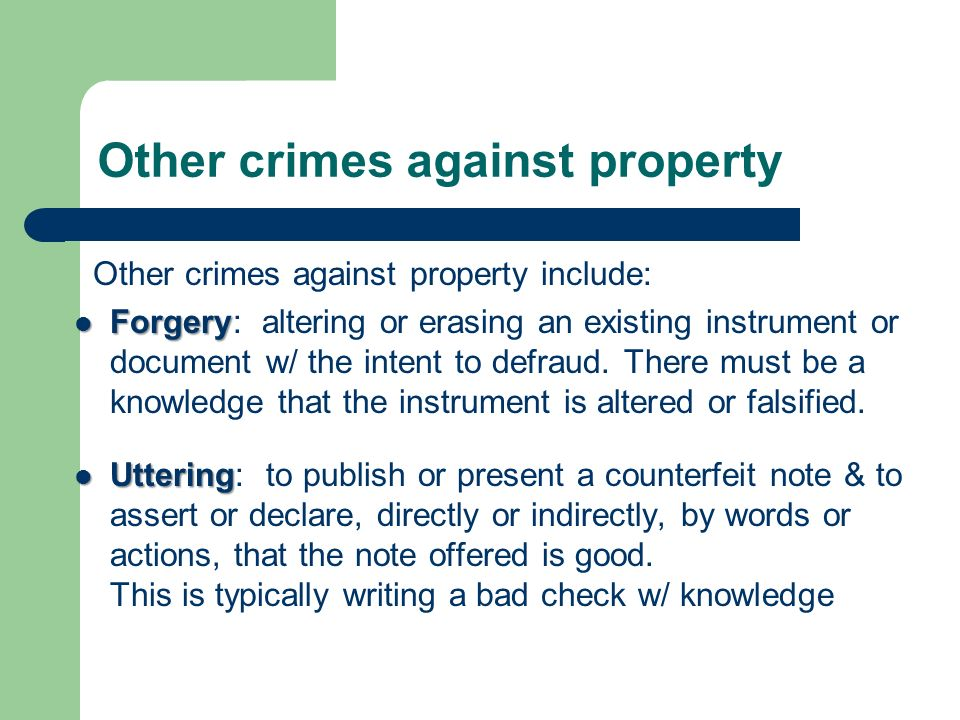 categories of crime crimes