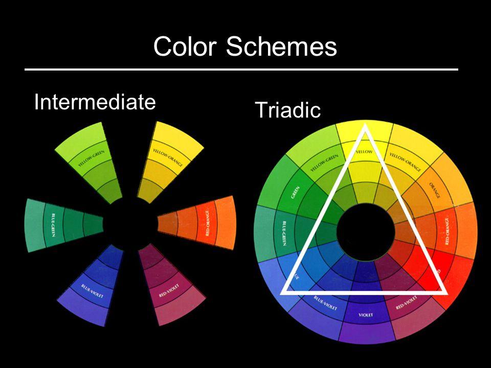 21 Triadic Intermediate Color Schemes
