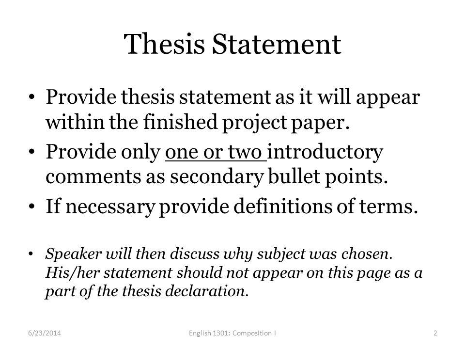 english major thesis