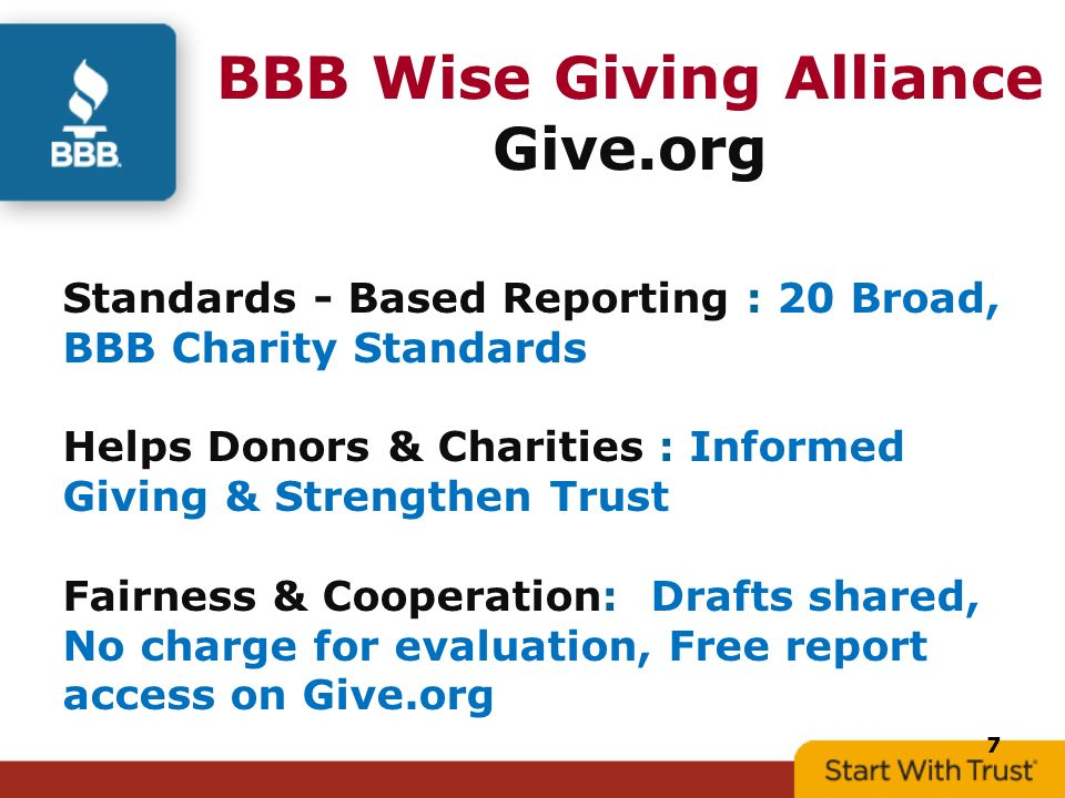 What The Watchdogs Are Watching Bbb Wise Giving Alliance  Ppt Download