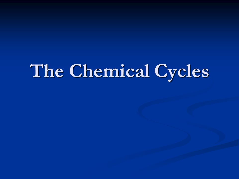 The Chemical Cycles
