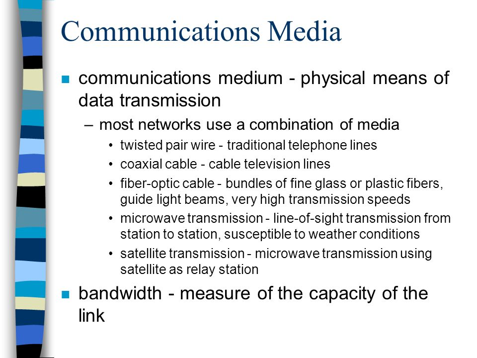 Chapter 7 Networking: Computer Connections. Networks n Network - a ...